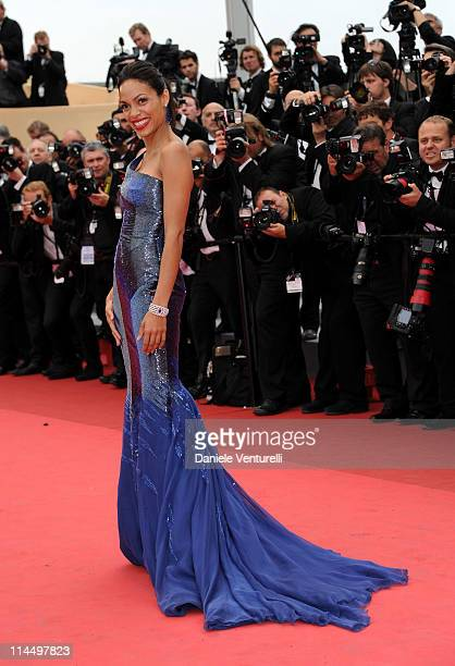 Model Rosario Dawson attends the 'Les BienAimes' Premiere and Closing Ceremony during the 64th Annual Cannes Film Festival at the Palais des...