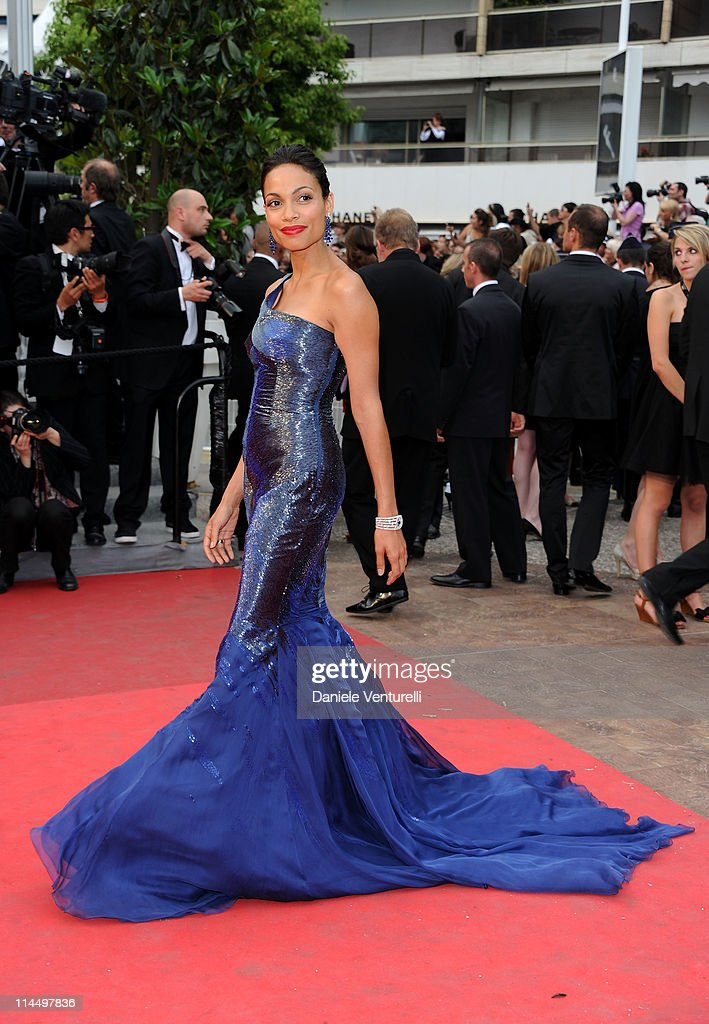 Model <a gi-track='captionPersonalityLinkClicked' href=/galleries/search?phrase=Rosario+Dawson&family=editorial&specificpeople=201472 ng-click='$event.stopPropagation()'>Rosario Dawson</a> attends the 'Les Bien-Aimes' Premiere and Closing Ceremony during the 64th Annual Cannes Film Festival at the Palais des Festivals on May 22, 2011 in Cannes, France.