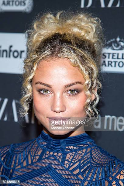 Model Rose Bertram attends Harper's BAZAAR Celebrates 'ICONS By Carine Roitfeld' at The Plaza Hotel on September 9 2016 in New York City