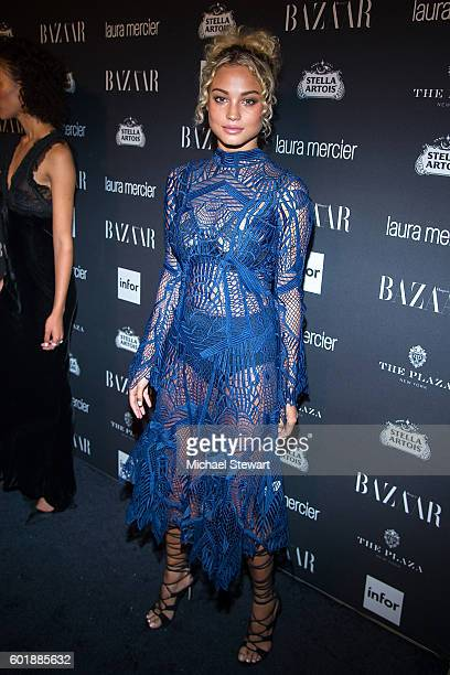 Model Rose Bertram attends Harper's BAZAAR Celebrates 'ICONS By Carine Roitfeld' at The Plaza Hotel on September 9 2016 in New York City