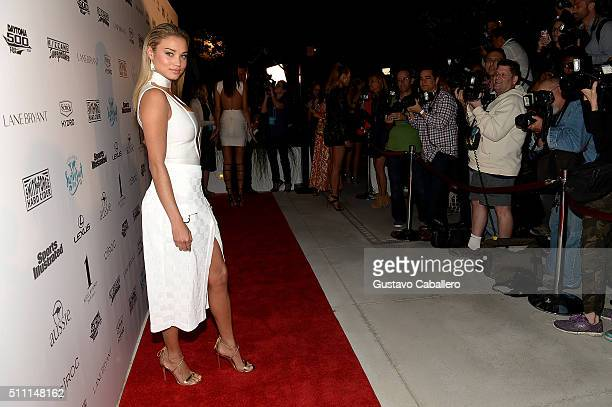 Model Rose Bertram attends the Sports Illustrated Swimsuit 2016 Swim BBQ VIP at 1Hotel on February 17 2016 in Miami City