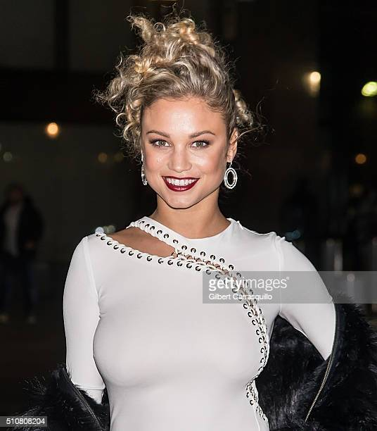Model Rose Bertram is seen arriving at Sports Illustrated Swimsuit 2016 NYC VIP press event at Brookfield Place on February 16 2016 in New York City