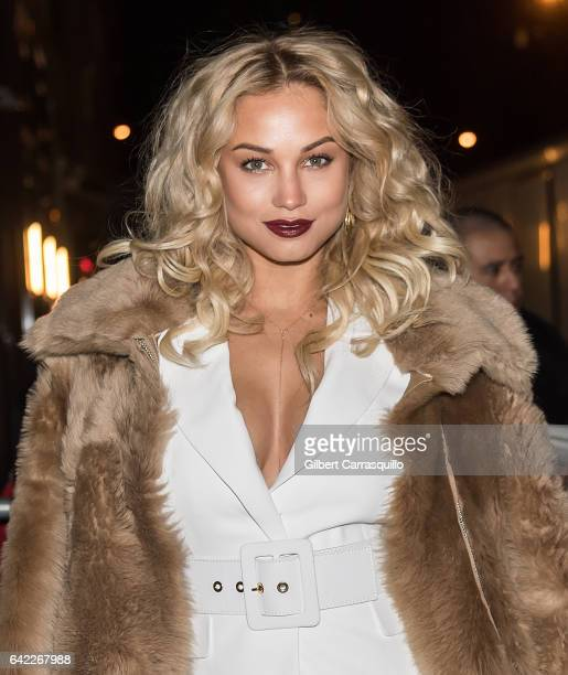 Model Rose Bertram is seen arriving at Sports Illustrated Swimsuit 2017 Launch Event at Center415 Event Space on February 16 2017 in New York City