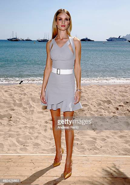 Model Rosie Huntington Whiteley attends a photocall to launch the 25th anniversary Magnum short film by Wim Wenders at the 67th Annual Cannes Film...