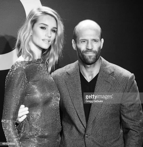 Model Rosie HuntingtonWhiteley and actor Jason Statham arrive at the Tom Ford Autumn/Winter 2015 Womenswear Collection Presentation at Milk Studios...