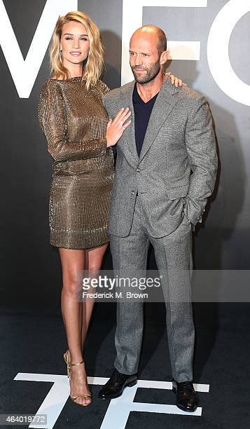 Model Rosie HuntingtonWhiteley and actor Jason Statham attend Tom Ford Autumn/Winter 2015 Womenswear Collection Presentation at Milk Studios on...