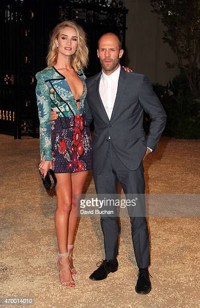 Model Rosie HuntingtonWhiteley and actor Jason Statham attends the Burberry 'London in Los Angeles' event at Griffith Observatory on April 16 2015 in...