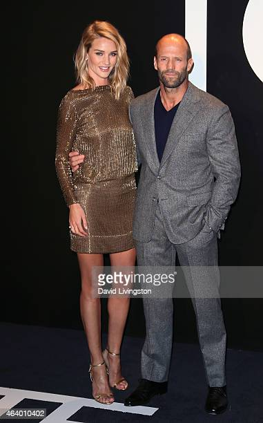 Model Rosie HuntingtonWhiteley and husband actor Jason Statham attend the Tom Ford Autumn/Winter 2015 Womenswear Collection presentation at Milk...