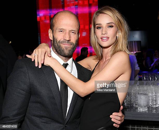 Model Rosie HuntingtonWhiteley and Jason Statham attend the after party for the Elle Style Awards 2015 at Sky Garden @ The Walkie Talkie Tower on...