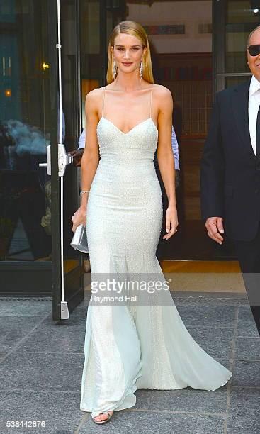 Model Rosie HuntingtonWhiteley and Michael Kors are seen walking in Soho on June 6 2016 in New York City