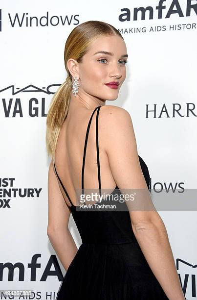 Model Rosie HuntingtonWhiteley arrives at the amfAR Inspiration Gala at Milk Studios on October 29 2015 in Hollywood California
