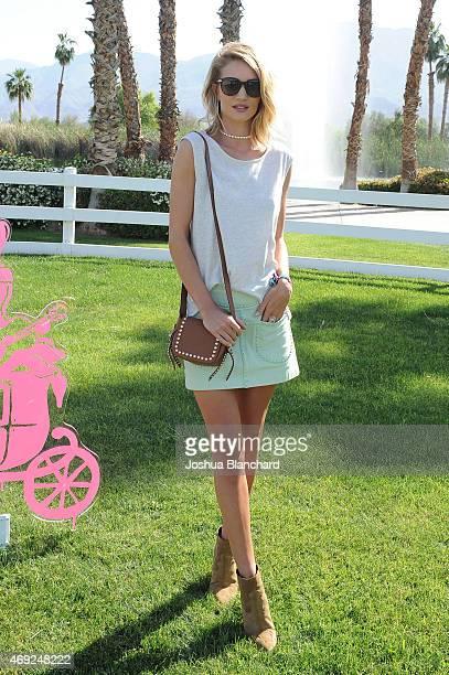 Model Rosie HuntingtonWhiteley attends Coach Backstage at Soho Desert House on April 10 2015 in La Quinta California