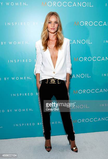 Model Rosie HuntingtonWhiteley attends Moroccanoil Inspired by Women campaign launch event at the IAC Building on September 17 2014 in New York City