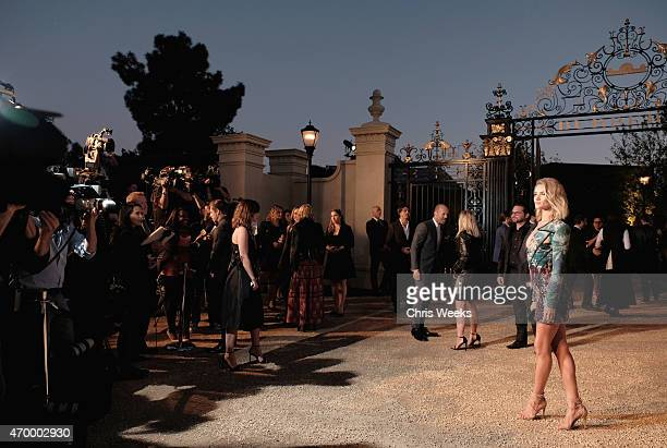 Model Rosie HuntingtonWhiteley attends the Burberry 'London in Los Angeles' event at Griffith Observatory on April 16 2015 in Los Angeles California