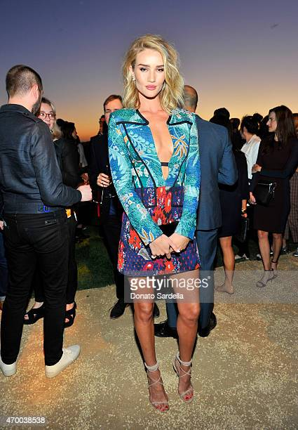 Model Rosie HuntingtonWhiteley attends the Burberry 'London in Los Angeles' event at Griffith Observatory on April 16 2015 in Los Angeles