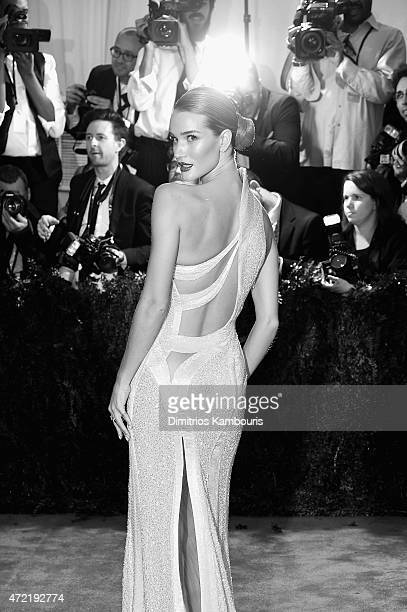 Model Rosie HuntingtonWhiteley attends the 'China Through The Looking Glass' Costume Institute Benefit Gala at the Metropolitan Museum of Art on May...