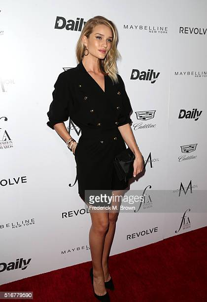 Model Rosie HuntingtonWhiteley attends the Daily Front Row 'Fashion Los Angeles Awards' at Sunset Tower Hotel on March 20 2016 in West Hollywood...