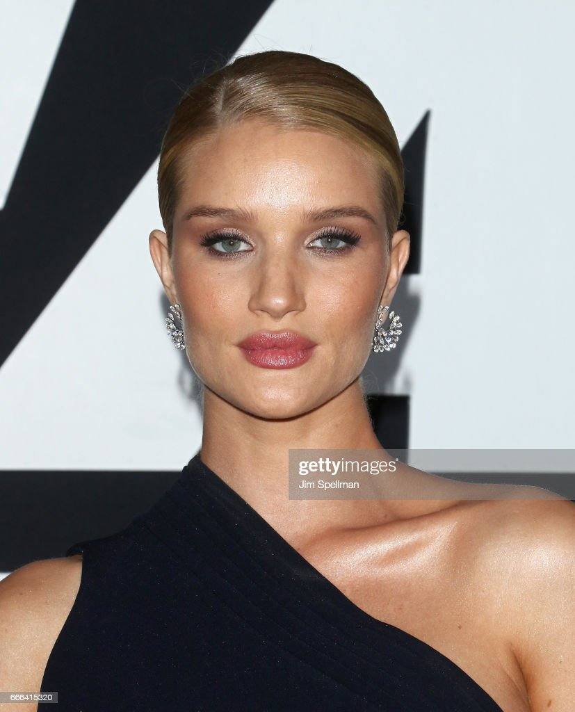 Model Rosie Huntington-Whiteley attends 'The Fate Of The Furious' New York premiere at Radio City Music Hall on April 8, 2017 in New York City.