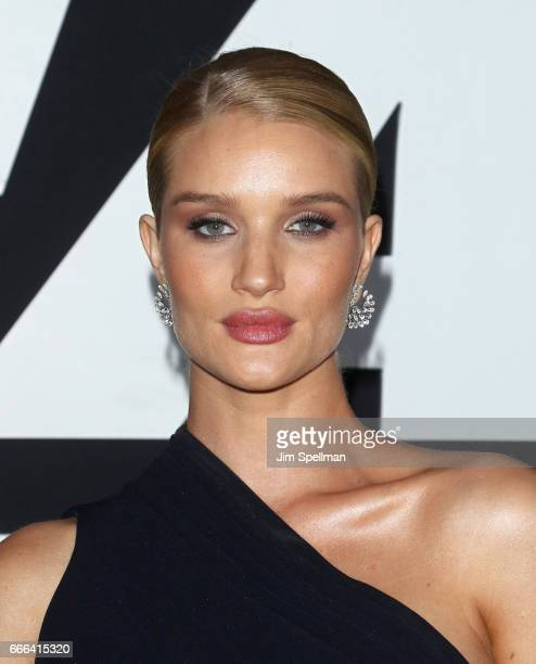 Model Rosie HuntingtonWhiteley attends 'The Fate Of The Furious' New York premiere at Radio City Music Hall on April 8 2017 in New York City