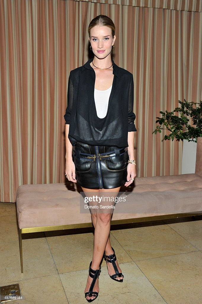 Model Rosie HuntingtonWhiteley attends the FORWARD by Elyse Walker and Anthony Vaccarello dinner at Sunset Towers on October 22 2014 in West...
