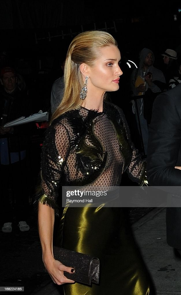 Model Rosie Huntington-Whiteley attends the 'PUNK: Chaos To Couture' Costume Institute Gala after party at The Standard hotel on May 6, 2013 in New York City.