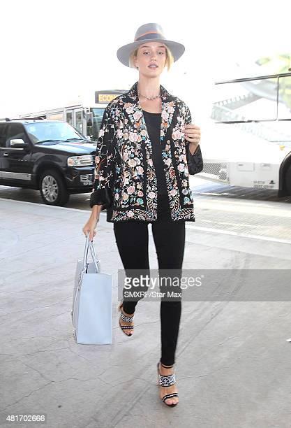 Model Rosie HuntingtonWhiteley is seen on July 23 2015 in Los Angeles California