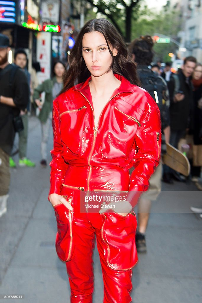 Model Ruby Aldridge attends the Vogue.com Met Gala cocktail party at Search & Destroy on April 30, 2016 in New York City.