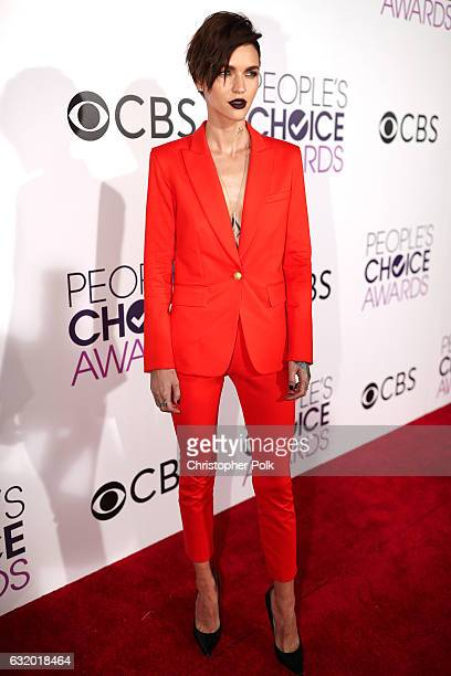Model Ruby Rose attends the People's Choice Awards 2017 at Microsoft Theater on January 18 2017 in Los Angeles California