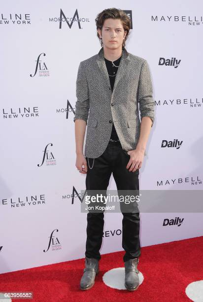 Model Sam Evans arrives at the Daily Front Row's 3rd Annual Fashion Los Angeles Awards at the Sunset Tower Hotel on April 2 2017 in West Hollywood...