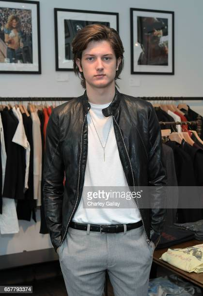 Model Sam Evans attends the LA John Varvatos Spring VIP Cocktail Party Personal Appearance on March 25 2017 in West Hollywood California