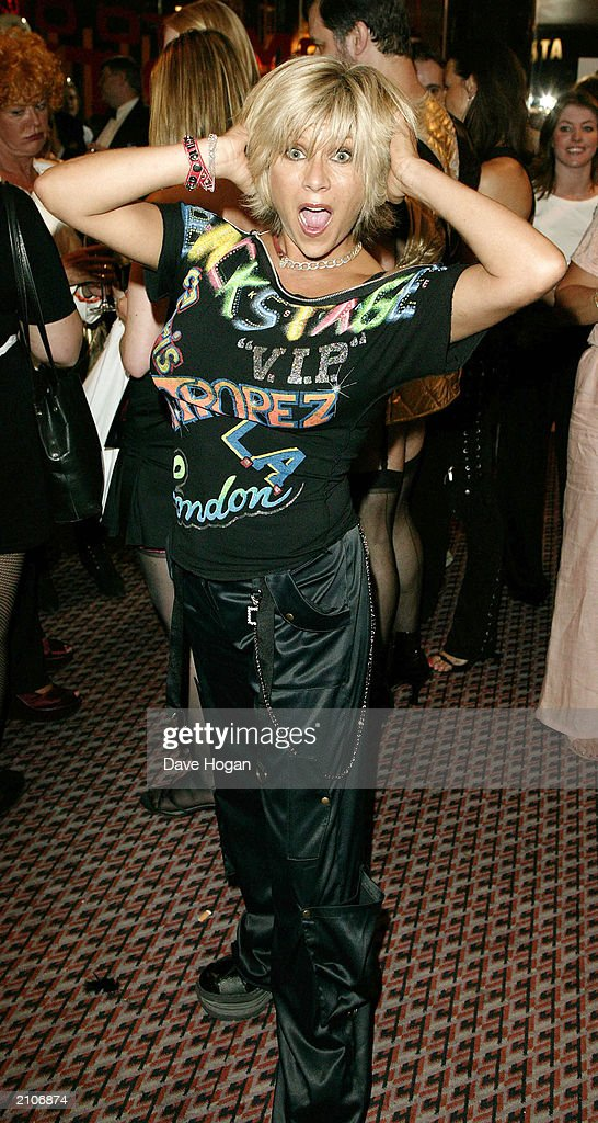 Model Sam Fox attends the party for the 30th anniversary performance of 'The Rocky Horror Picture Show' on June 23, 2003 at Queens Theatre, London, England.