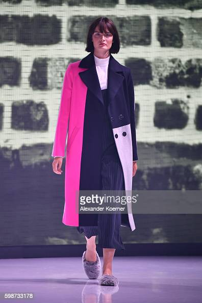Model Sam Rollinson walks the runway at the Topshop fashion show during the Bread Butter by Zalando at arena Berlin on September 2 2016 in Berlin...