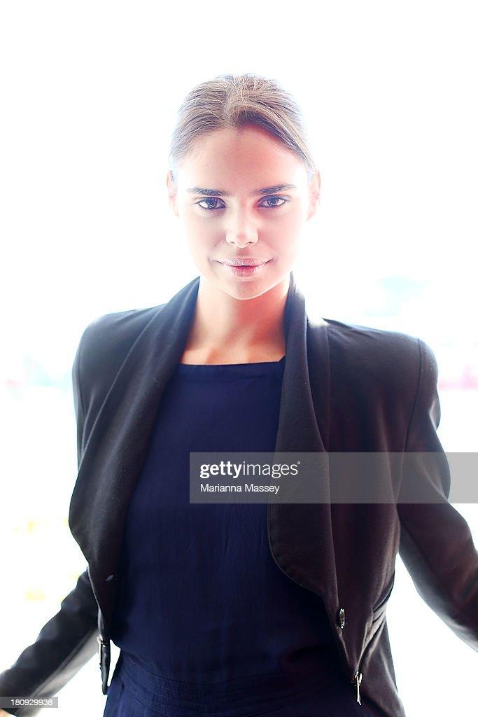 Model Samantha Harris at the Girlfriend Rimmel Model Search winner announcement event on September 18, 2013 in Sydney, Australia.