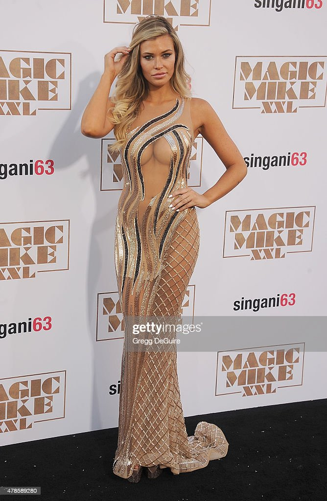 Model Samantha Hoopes arrives at the Los Angeles World Premiere of Warner Bros. Pictures' 'Magic Mike XXL' at TCL Chinese Theatre IMAX on June 25, 2015 in Hollywood, California.