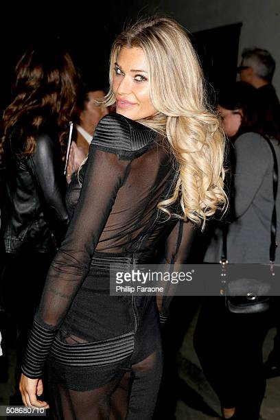 Model Samantha Hoopes attends the Sports Illustrated Experience Friday Night Party on February 5 2016 in San Francisco California