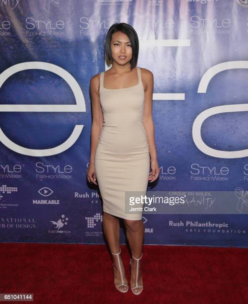Model Sammi Kay attends Malan Breton's 3D Cinematic Runway Show at Style Fashion Week Los Angeles at Pacific Design Center on March 9 2017 in West...