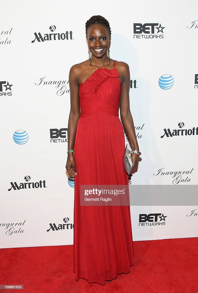 Model Sandra Nyanchoka attends the Inaugural Ball hosted by BET Networks at Smithsonian American Art Museum & National Portrait Gallery on January 21, 2013 in Washington, DC.