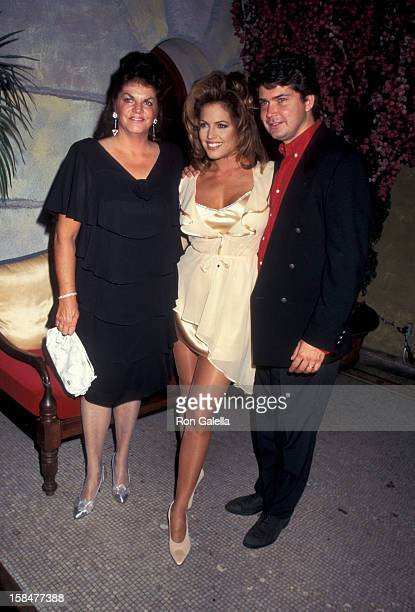 Model Sandra Taylor mother Susan Collier and husband David O'Connell and guest attending 'Playboy Magazine Party Honoring Sandra Taylor' on June 8...
