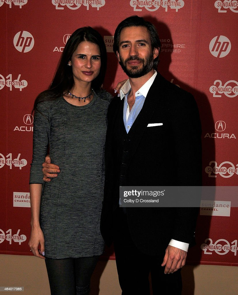 Model Sandrina Bencomo (L) and producer Emanuel Michael attend the 'What We Do In The Shadows' premiere at the Egyptian Theatre during the 2014 Sundance Film Festival on January 19, 2014 in Park City, Utah.