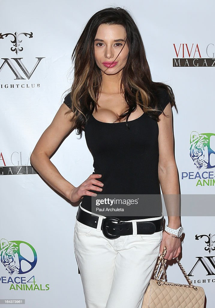 Model Sara Balint attends the Viva Glam Magazine April launch party in support of Peace 4 Animals at AV Nightclub on March 22, 2013 in Hollywood, California.