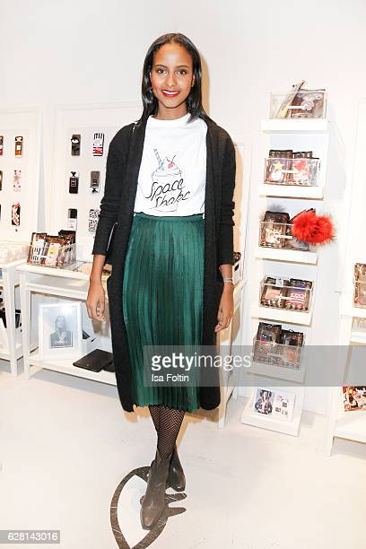 Model Sara Nuru attends the Iphoria store opening on December 6 2016 in Berlin Germany