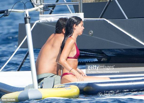 Model Sara Sampaio and Oliver Ripley are seen on August 6 2017 in Ibiza Spain