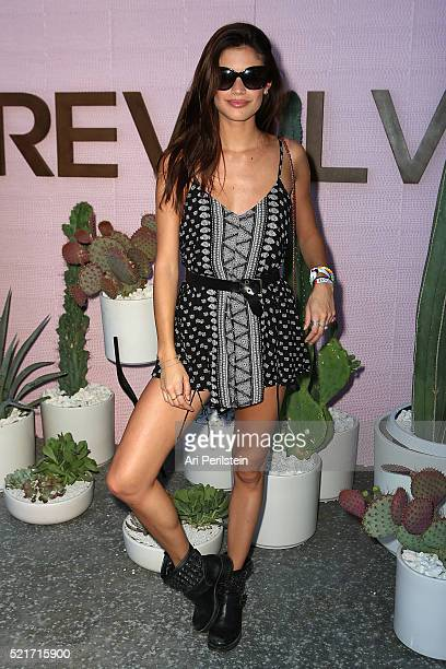 Model Sara Sampaio arrives at REVOLVE Desert House on April 16 2016 in Thermal California