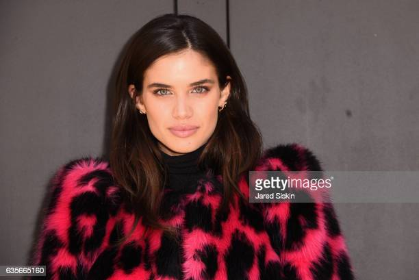 Model Sara Sampaio at the Marc Jacobs Fall 2017 Show at Park Avenue Armory on February 16 2017 in New York City