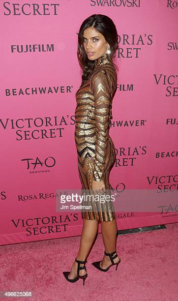 Model Sara Sampaio attends the 2015 Victoria's Secret Fashion Show after party at TAO Downtown on November 10 2015 in New York City