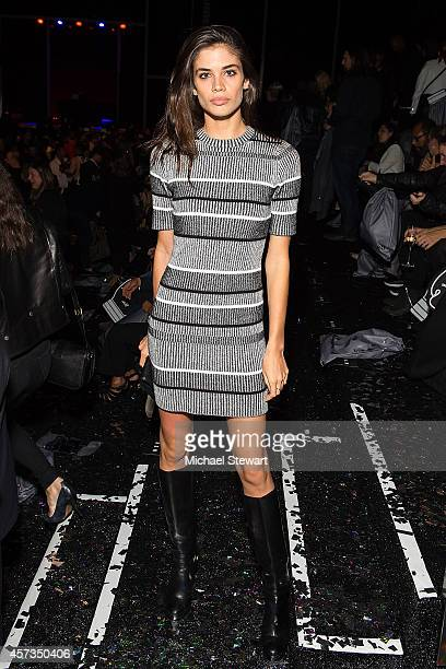 Model Sara Sampaio attends the Alexander Wang x HM Collection Launch at the Armory on the Hudson on October 16 2014 in New York City