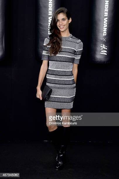 Model Sara Sampaio attends the Alexander Wang X HM Launch on October 16 2014 in New York City