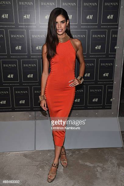 Model Sara Sampaio attends the BALMAIN X HM Collection Launch at 23 Wall Street on October 20 2015 in New York City