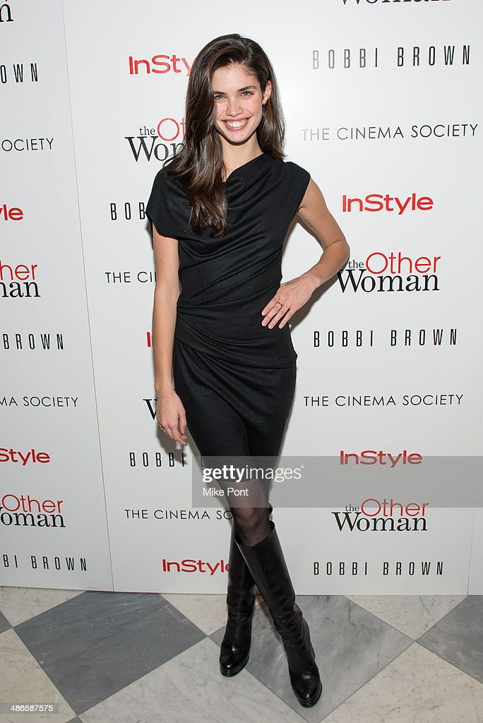 Model Sara Sampaio attends The Cinema Society & Bobbi Brown with InStyle screening of 'The Other Woman' at The Paley Center for Media on April 24, 2014 in New York City.