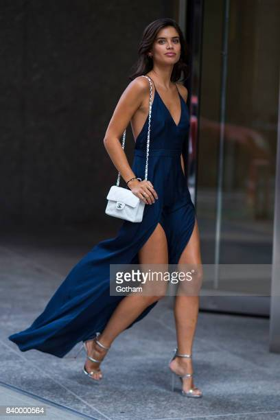 Model Sara Sampaio is seen going to fittings for the 2017 Victoria's Secret Fashion Show in Midtown on August 27 2017 in New York City